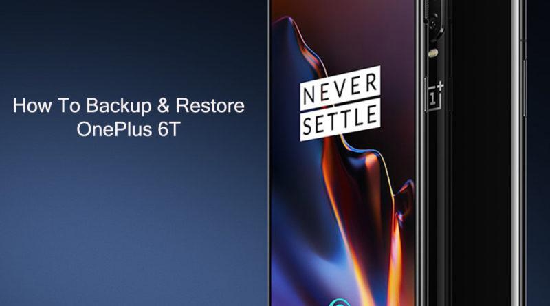 oneplus-6t-Backup & Restore