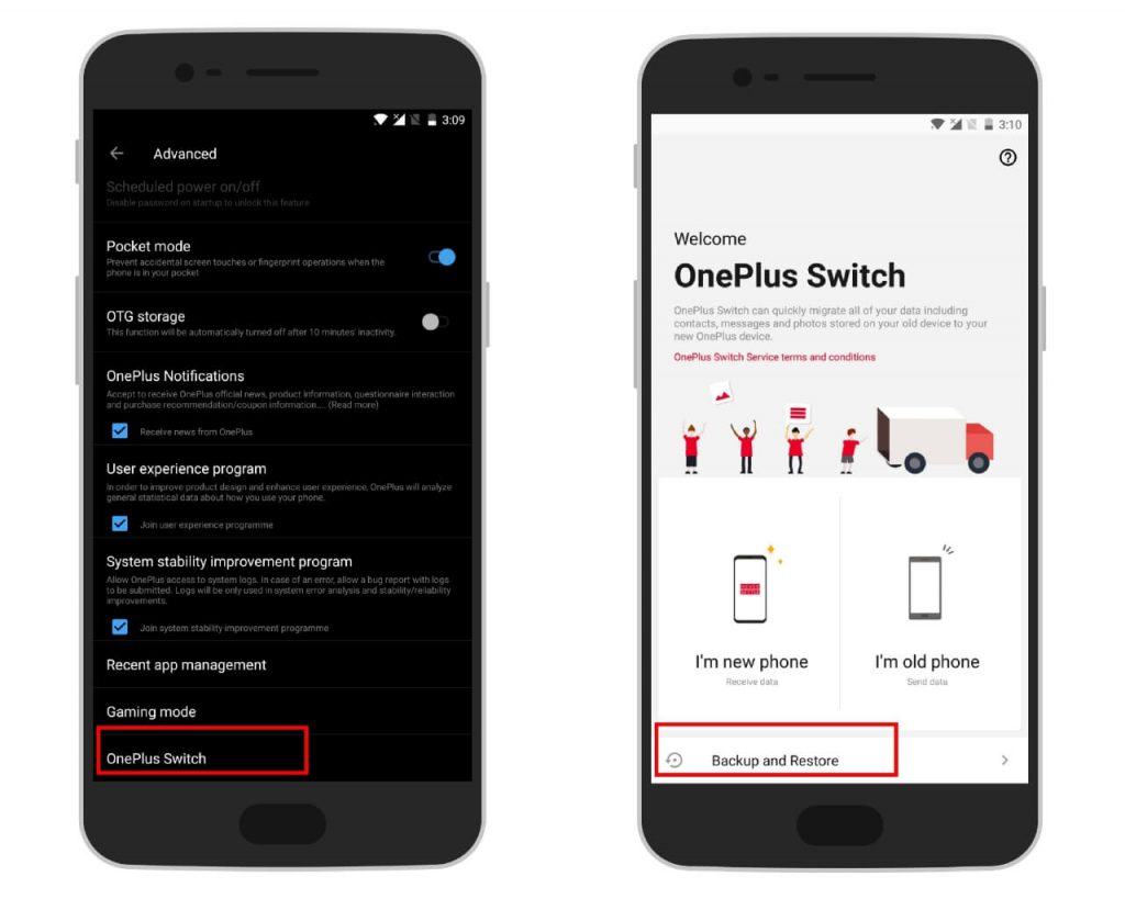 oneplus-6t-Backup & Restore find app