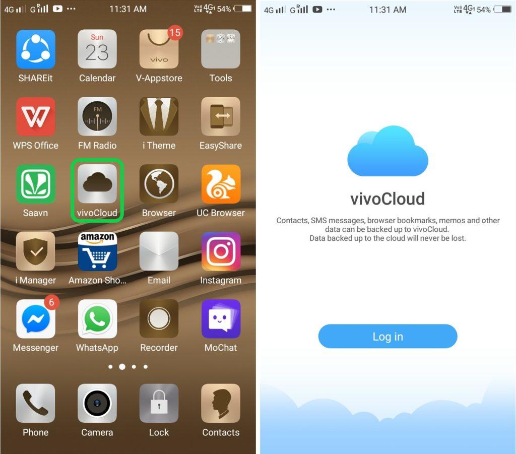 vivo-cloud-backup