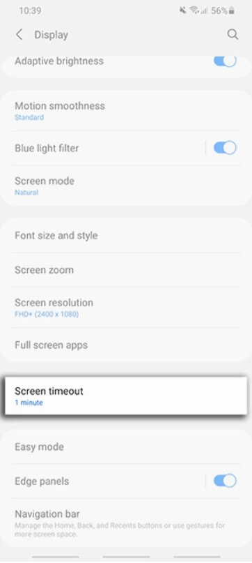steps-to-change-screen-timeout-time-in-samsung-galaxy